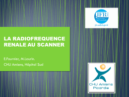 LA RADIOFREQUENCE RENALE AU SCANNER