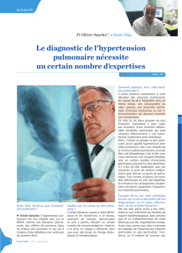 Le diagnostic de l`hypertension pulmonaire nécessite
