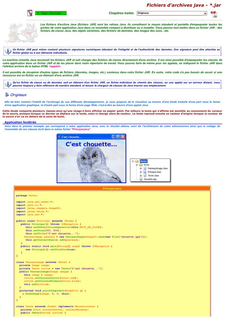 Fichier D Archive Java Jar Programmer En Java Programme Java
