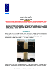 passivation du fer