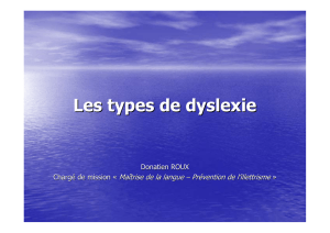 Les types de dyslexie