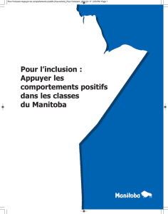 Pour l`inclusion - Manitoba Education and Training
