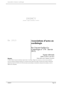 Associations d`actes en cardiologie