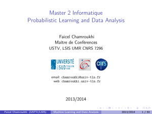 @let@token Master 2 Informatique Probabilistic Learning and Data