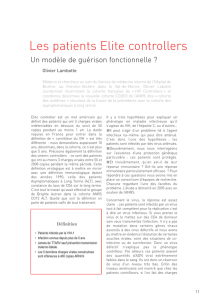 Les patients Elite controllers