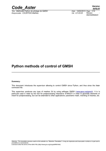 Python methods of control of GMSH