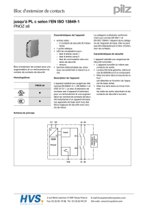 PILZ - PNOZ s8 - Bloc d`extension de contacts