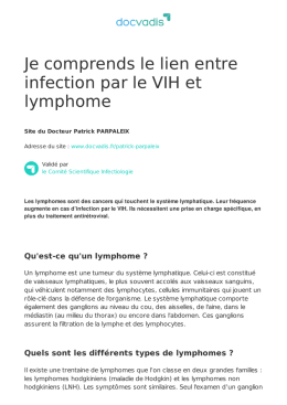 Je comprends le lien entre infection par le VIH et