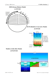 EBM (Energy-Balance-Model) LATITUDE RCM (Radiative