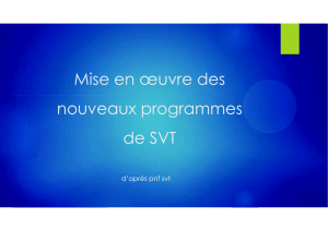 4 nvx program de SVT - Sciences de la Vie et de la Terre