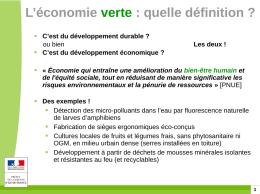 économie verte définition
