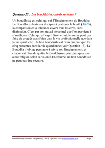 Question-23 : Les bouddhistes sont