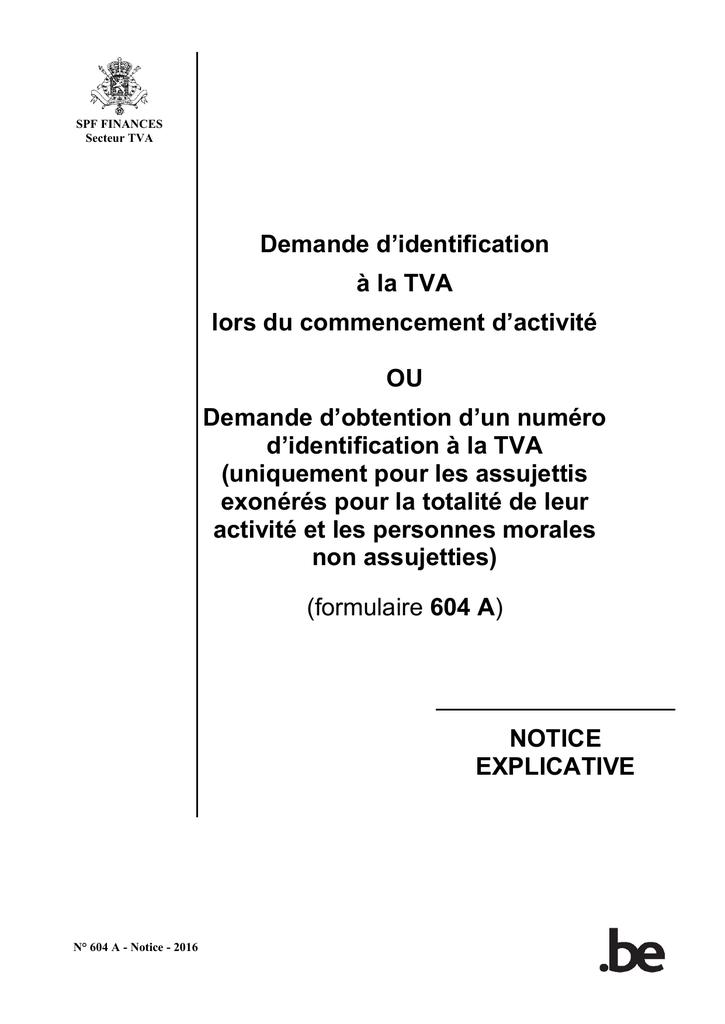 FORMULAIRE 604B TÉLÉCHARGER