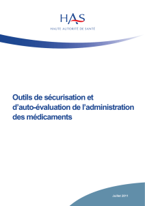 Guide Outil Securisation Autoevaluation Medicaments complet