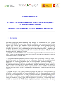 TERMES DE REFERENCE ELABORATION DU GUIDE PRATIQUE