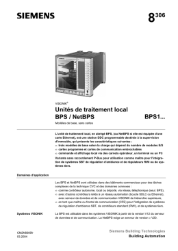 8306 Unités de traitement local BPS / NetBPS BPS1