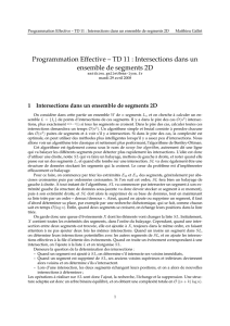 Intersections dans un ensemble de segments 2D