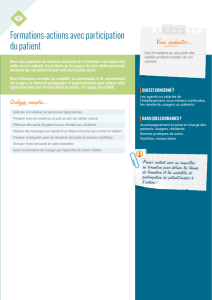 Formations-actions avec participation du patient