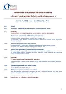 Rencontres de l`Institut national du cancer