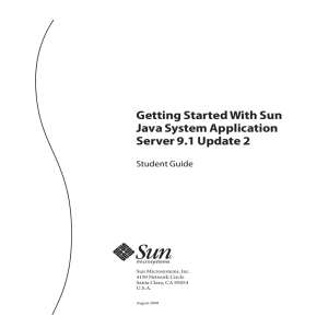 Getting Started With Sun Java System Application Server 91 Update 2