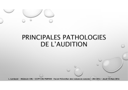 Pathologie de l`audition