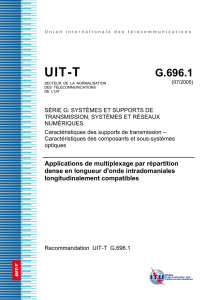 UIT-T Rec. G.696.1 (07/2005) Applications de multiplexage par