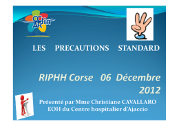 les precautions standards 2012 - CClin Sud-Est