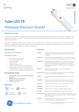 Fiche Technique Tubes LED PPR - FR