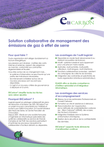 Solution collaborative de management des émissions de gaz à effet