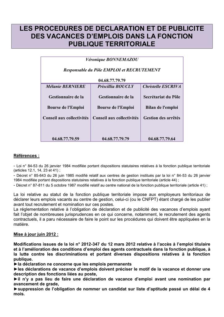 4503ca520e3 les procedures de declaration et de publicite des