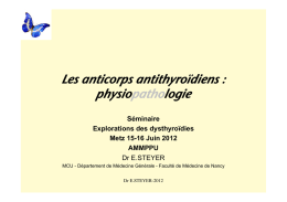 2 ES anticorps thyroïde physiologie