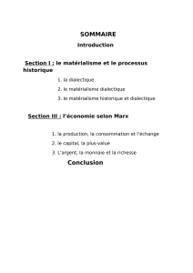 SOMMAIRE Conclusion