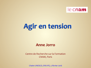 Intervention A. Jorro - Gestes professionnels 5.02.16