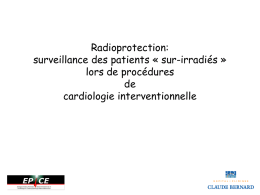 Radioprotection: surveillance des patients « sur