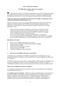 Notice : Information du patient TYSABRI 300 mg solution à
