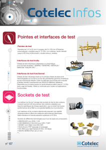 Pointes et interfaces de test Sockets de test