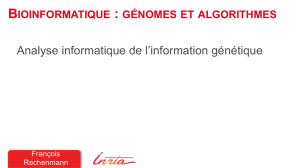 Analyse informatique de l`information génétique