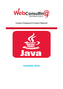 Formation JAVA - WebConsulting-info