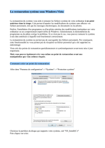 La restauration système sous Windows Vista