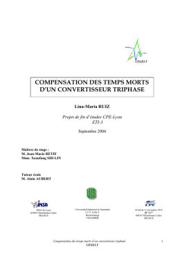 compensation des temps morts d`un convertisseur triphase