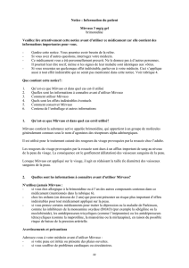 Notice : Information du patient Mirvaso 3 mg/g gel brimonidine