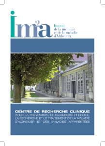 CENTRE DE RECHERCHE CLINIQUE - Association France-DFT