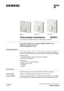3563 Thermostats d`ambiance RAA31…