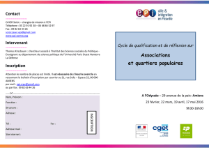 Associations et quartiers populaires