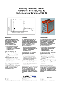 Unit Step Generator, USG 40
