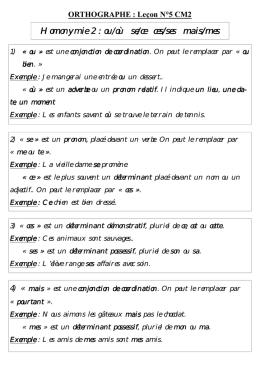 Evaluation De Francais A Imprimer Ces Ou Ses