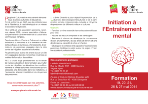 Initiation à l`Entraînement mental