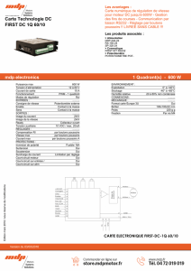 Carte Technologie DC FIRST DC 1Q 60/10 mdp electronics 1