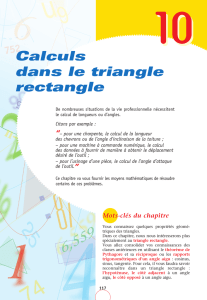Calculs dans le triangle rectangle