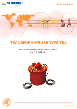 TRANSFORMATEURS TYPE TSA